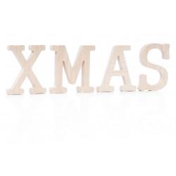 Dekoratyvinės medinės raidės  XMAS