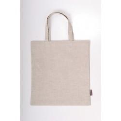 Lininis pirkinių krepšys, baltas