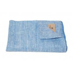 Mėlynas lininis rankšluostis