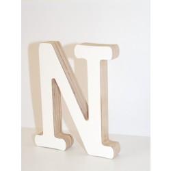 Medinė dekoratyvinė raidelė N