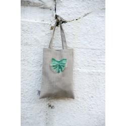 Lininis dovanų krepšelis, pilkas