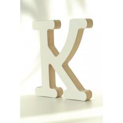 Medinė dekoratyvinė raidelė K